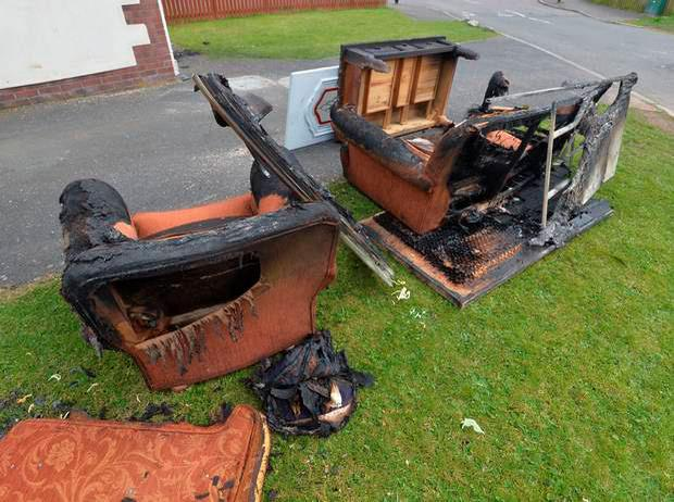 The scene of a house at Navan Court on Wednesday Credit: Colm Lenaghan/Pacemaker Press