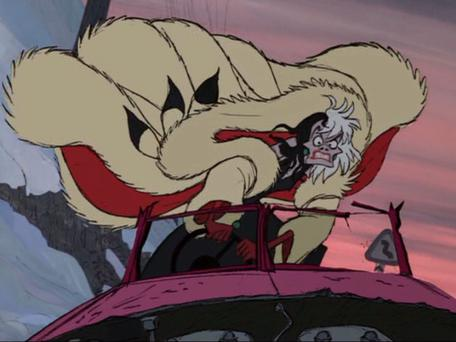Disney's Cruella Deville was a terrible driver in the animated film 101 Dalmations