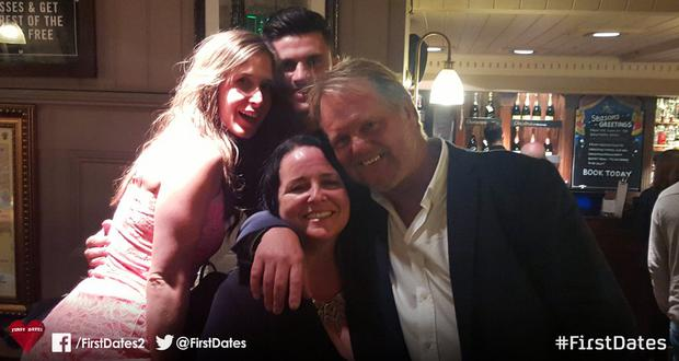 Charlotte and Ben join Maria and Steve for a double date on First Dates. Photo: Channel 4
