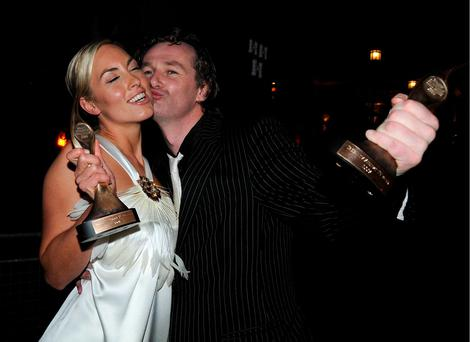 Kathryn Thomas and Daithi O Se at the 2008 TV Now Awards