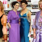 (L to R) Rosanna Davison in 2009; Grainne and Sile Seoige in 2007 and Anne Doyle in 2009
