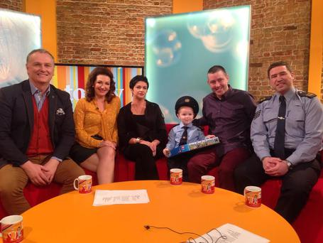 Ceejay McArdle (3) on Today with Maura and Dáithí