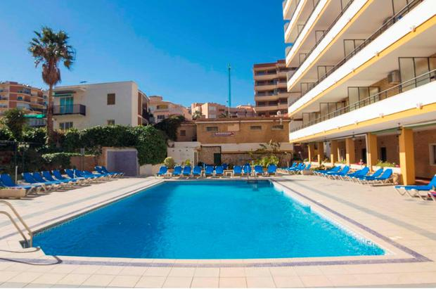 The Apartamentos Buensol complex in the Spanish Costa del Sol resort of Torremolinos, where 19-year-old Irishman Greg Long died on Wednesday evening. Photo: Solarpix.com