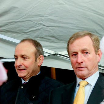 There appears to be little trust between Micheál Martin and Enda Kenny, who have 66 years' Dáil membership between them. Photo: Maxpix