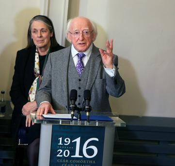 President Michael D Higgins wishes Ireland had adopted socialism when we become independent – but if we had adopted his version of socialism, it would have led us to a greater economic disaster than even the recent crash. He is pictured with Chief Justice, Susan Denham, at the opening of the new Kilmainham Gaol Museum Visitor Centre. Photo: Damien Eagers
