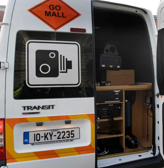 One of GoSafe's mobile road safety cameras Photo: Laura Hutton/Photocall Ireland