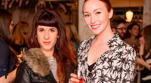 Aoife Martinho & January Russell pictured enjoying a #MoetMoment at the Moët & Chandon spring party hosted at Drury Buildings, in association with Brooke & Shoals. Photo: Anthony Woods