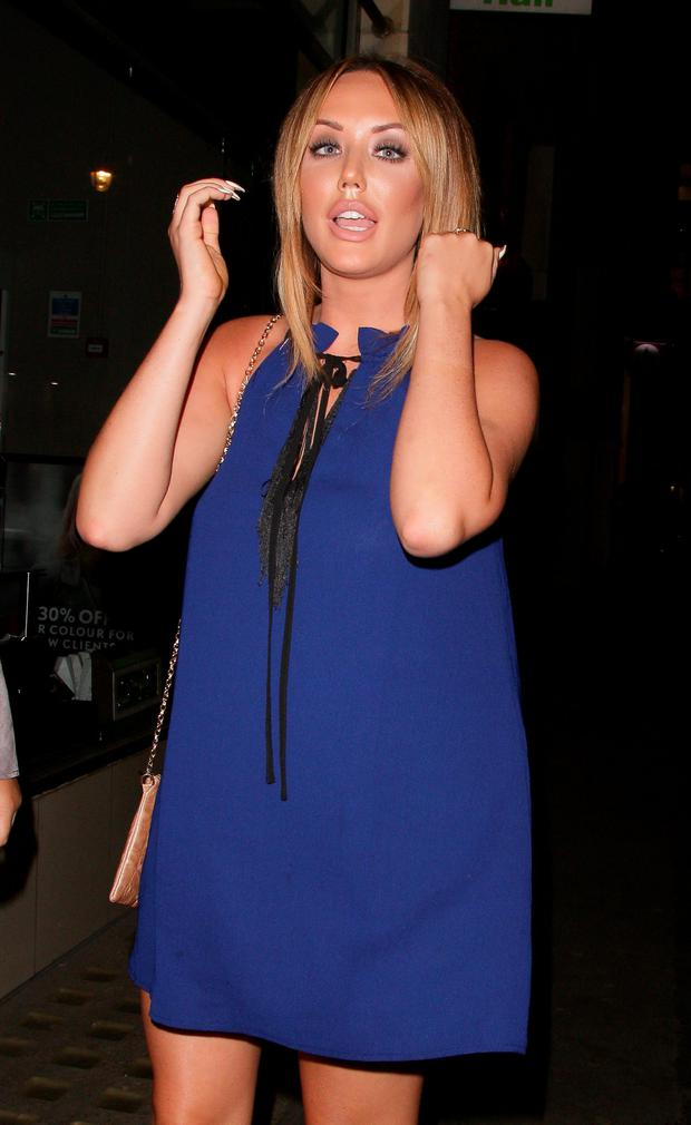 Charlotte Crosby attending the In The Style clothing launch at Libertine on March 31, 2016 in London, England. (Photo by Mark Robert Milan/GC Images)