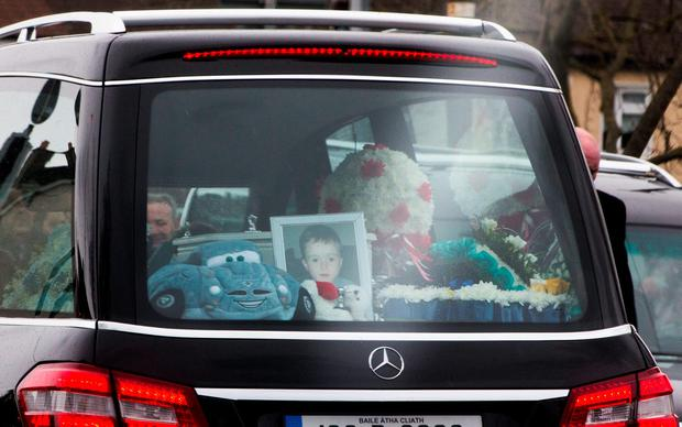 The funeral of Tyler Joyce at the Church of The Annunciation, Finglas today.