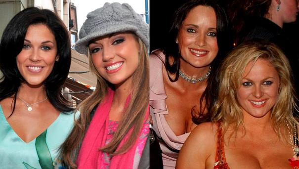 (L to R) Glenda Gilson and Rosanna Davison; Andrea Roche and Amanda Brunker