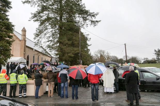 The funeral of Tracy Campbell Fitzpatrick at St. Ann's Church, Shanvaghera, Knock, Co. Mayo