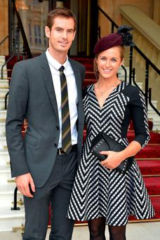 Andy Murray with his wife Kim Sears.