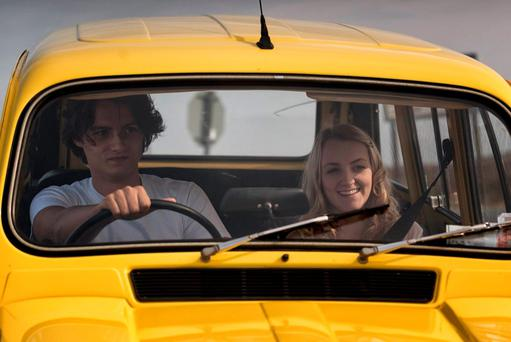 George Webster and Evanna Lynch hit the road in 'My Name is Emily'.