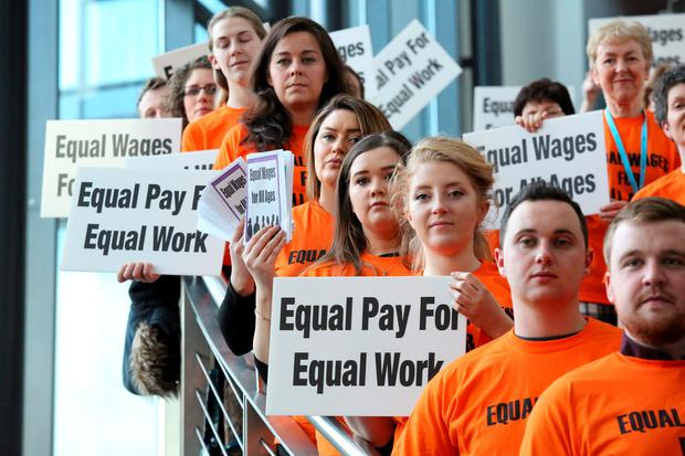 Newly qualified teachers are wondering out loud why they are being paid less than their colleagues. Photo: Mary Browne