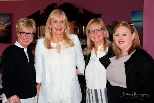 RTE chair Moya Doherty, Miriam O'Callaghan, Dee Forbes and INM Group Business Editor Dearbhail McDonald at the Women In Media conference in Ballybunion