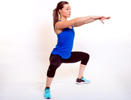 Sophie from No 17 Personal Training does a Sumo Stance Squat. Photo: Tony Gavin