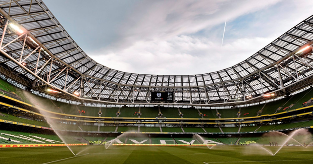 Fans will pack into the stadium this evening and I'm guessing there will be a much better atmosphere mainly because the fans will mostly be real fans and not picnickers who didn't even bother to come out to welcome the Irish team on to the field against Scotland (Stock image)