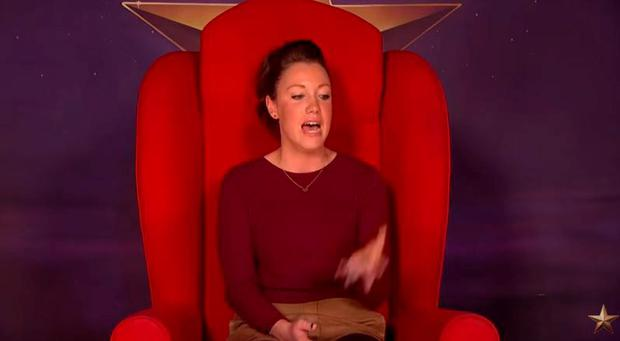 Mia from Leicester in Graham Norton's red chair