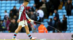 A dejected Jack Grealish of Aston Villa leaves the pitch after the Barclays Premier League match between Aston Villa and Chelsea last weekend