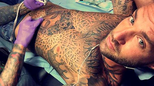 Calum Best's new tattoo. PIC: Calum Best Instagram