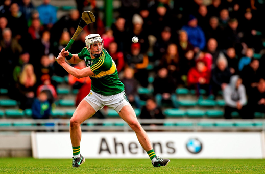 Shane Nolan, Kerry, takes a free Photo: Diarmuid Greene / Sportsfile