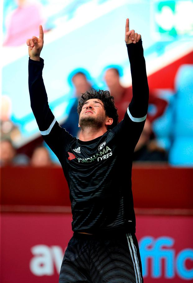 Alexandre Pato celebrates his goal. Photo: PA