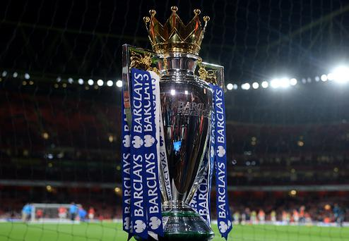 LONDON, ENGLAND - DECEMBER 21: The Barclays Premier League Trophy is displayed prior to the Barclays Premier League match between Arsenal and Manchester City at Emirates Stadium on December 21, 2015 in London, England. (Photo by Michael Regan/Getty Images)