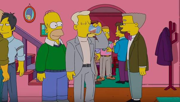 Smithers comes out on The Simpsons