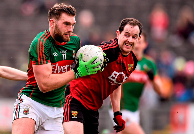 Aidan O'Shea missed a good chance before the break. Photo: Sportsfile