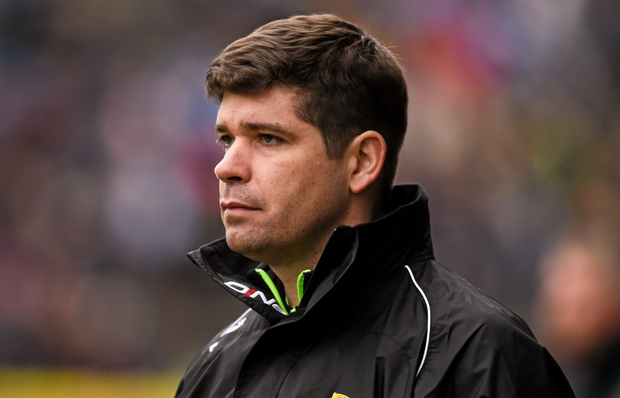 Kerry secured their first league semi-final place during Eamonn Fitzmaurice's four-year reign with victory at home to Cork but, even more significantly, it was achieved while relegating the Rebels to Division 2. Photo: Sportsfile