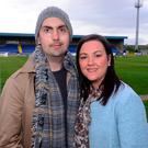Former Derry City player Mark Farren, who died of cancer at the age of 33, and his wife Terri-Louise. Photo: Pacemaker