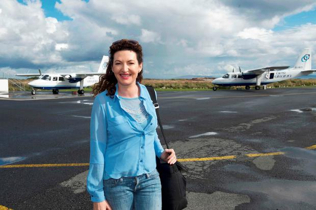Broadcaster Maura Derrane, who regularly uses the service to commute home, has previously described the decision to end the Aer Arann contract as 'ridiculous'. Photo: Andrew Downes