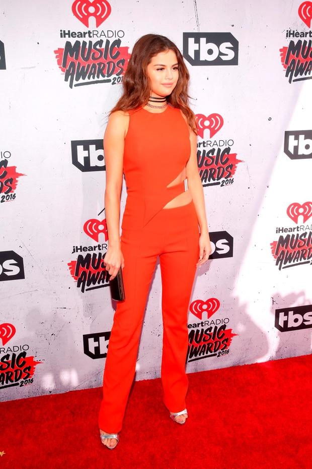 Singer Selena Gomez attends the iHeartRadio Music Awards at The Forum on April 3, 2016 in Inglewood, California. (Photo by Jesse Grant/Getty Images for iHeartRadio / Turner)