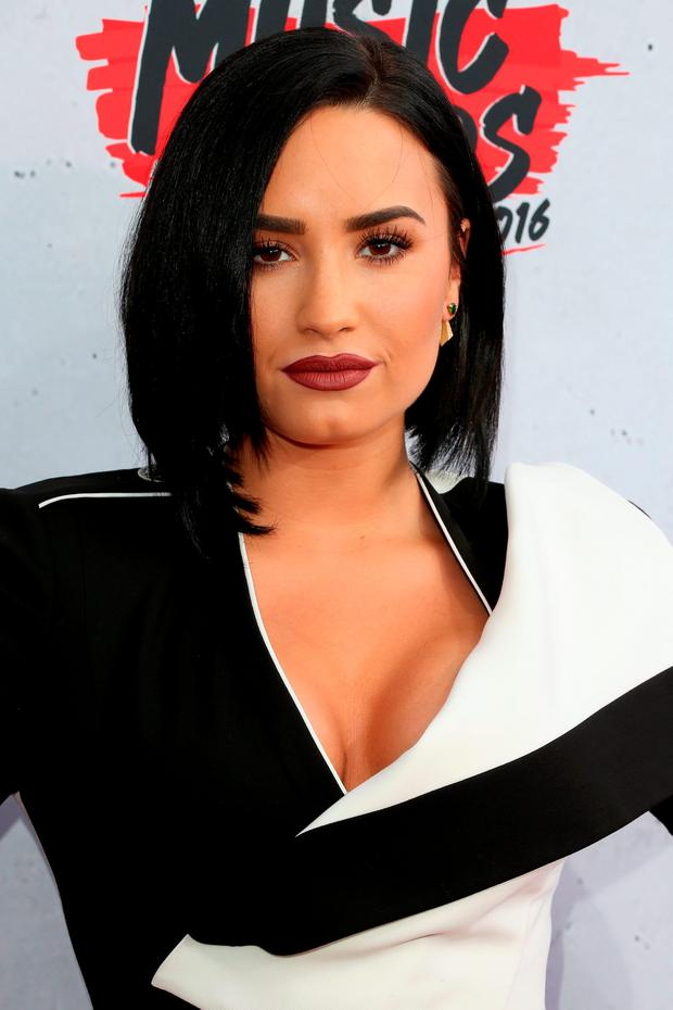 Actress/singer Demi Lovato attends the iHeartRadio Music Awards at The Forum on April 3, 2016 in Inglewood, California. (Photo by Frederick M. Brown/Getty Images)