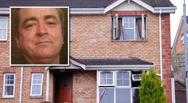 Brian McCabe (inset) died in a fire at his Downpatrick home