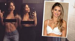 Kim Kardashian and Emily Ratajkowski's infamous selfie and Vogue Williams (inset)