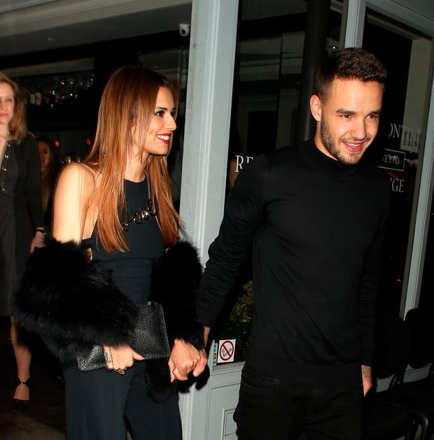 Cheryl Fernandez-Versini and Liam Payne at Salmontini restarant on March 9, 2016 in London, England. (Photo by Mark Milan/GC Images)