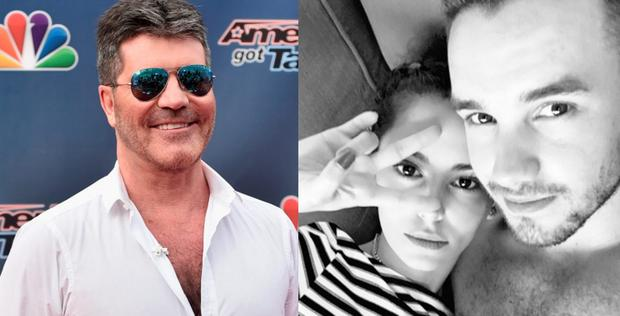 Simon Cowell (left) and Liam Payne (right) with girlfriend Cheryl Fernandez Versini