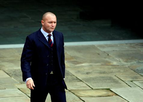 John Norwood arrives at Winchester Crown Court, where the Scots Guards soldier is accused of attempted murder, wounding with intent and attempted wounding with intent in connection with incident at Aldershot. Photo: Steve Parsons/PA Wire