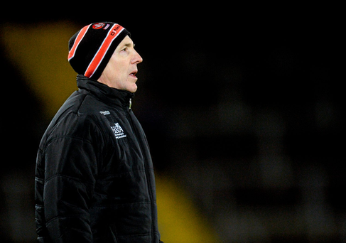 Barton: Back from his sideline ban. Photo: Sportsfile