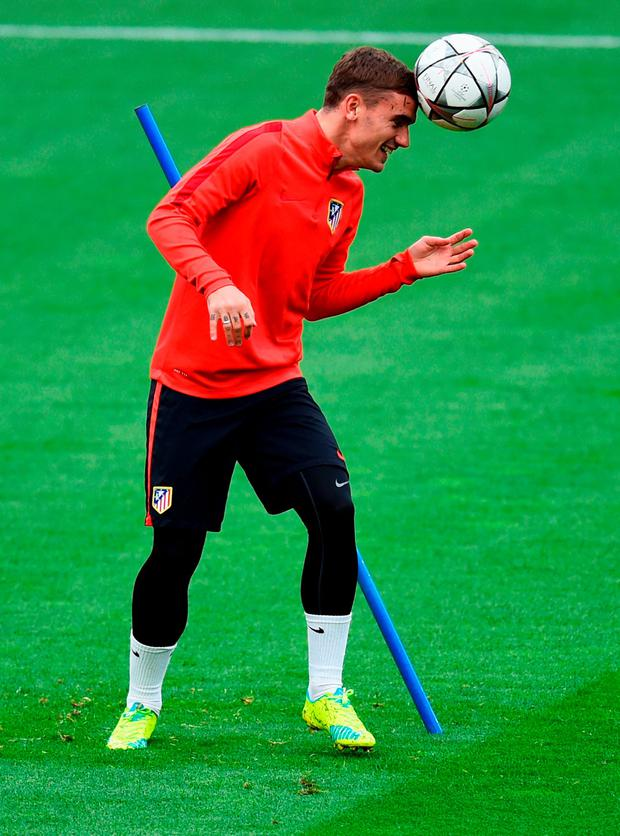 Atletico Madrid's Antoine Griezmann will be hoping to cause problems for the Barcelona defence at the Nou Camp tonight. Photo: Getty