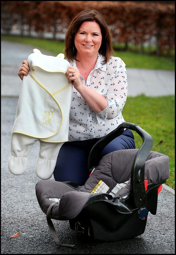 Christine Carolan from Tyrellstown with her Cosynest product Photo: Steve Humphreys