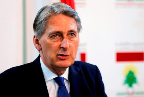 UK Foreign Secretary Philip Hammond. AP Photo/Bilal Hussein