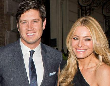 Vernon Kay and Tess Daly are seen arriving at Annabel's club, Mayfair on June 01, 2015 in London, England. (Photo by Niki Nikolova/GC Images)