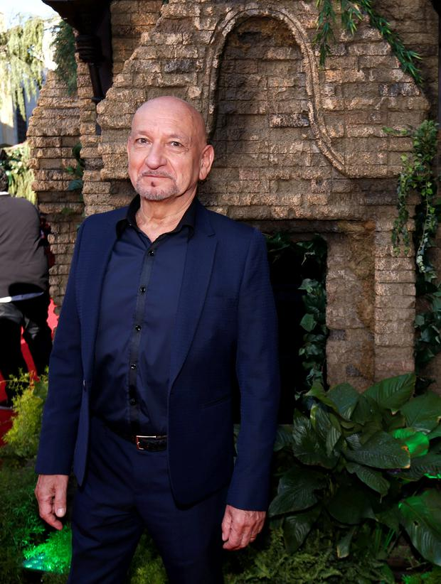 Cast member Ben Kingsley poses at the premiere of