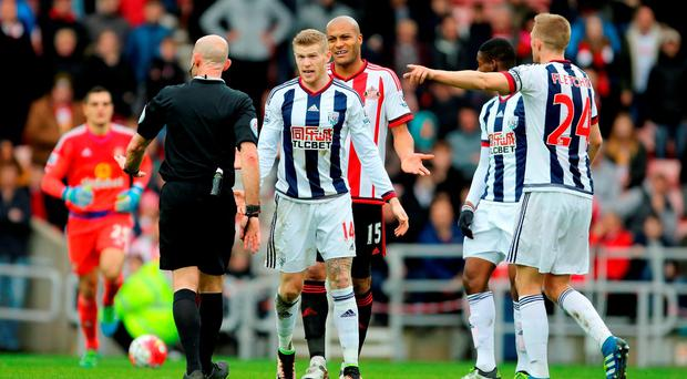 James McClean during the game at the Stadium of Light on Saturday