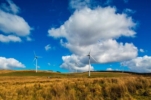 Undated handout photo issued by Gaelectric of Monnaboy wind farm in Co Derry in Northern Ireland, a 21.28m investment capable of powering more than 7,400 homes is to be opened. Photo: Keith Arkins/Gaelectric/PA Wire