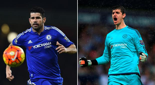 Diego Costa and Thibaut Courtois face uncertain futures at Chelsea