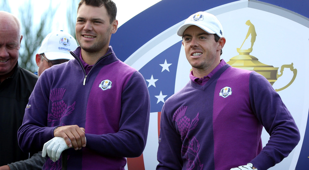 Ryder Cup teammates Rory McIlroy and Martin Kaymer have been grouped with Bill Haas in Augusta this week.
