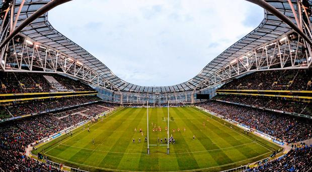 'The fake, artificial atmosphere 'created' at the Aviva Stadium on Saturday for Leinster and Munster was a new low in what has become a tiresome and worrying trend in Irish sport.' Picture credit: Cody Glenn / SPORTSFILE